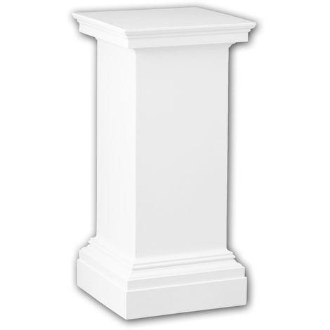 Vollsäulen Postament PROFHOME 114001 Säule Zierelement Neo-Klassizismus-Stil weiß