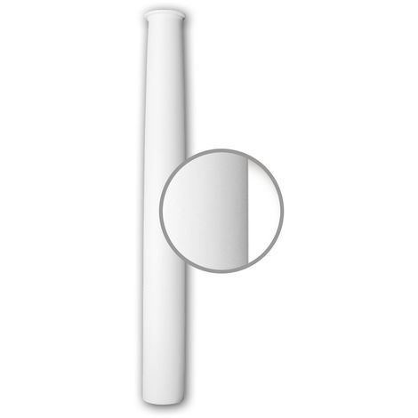 Vollsäulen Schaft PROFHOME 112020 Säule Zierelement Neo-Klassizismus-Stil weiß