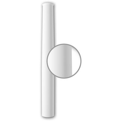 Vollsäulen Schaft PROFHOME 112050 Säule Zierelement Neo-Klassizismus-Stil weiß