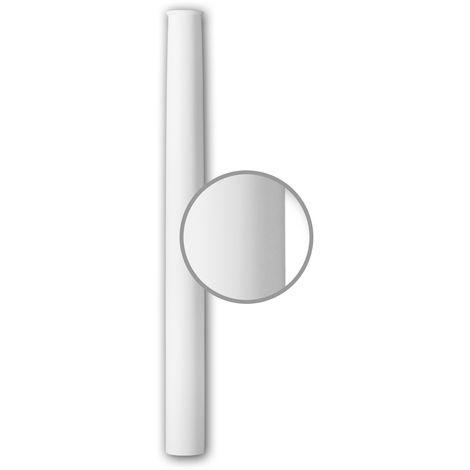 Vollsäulen Schaft PROFHOME 112060 Säule Zierelement Neo-Klassizismus-Stil weiß