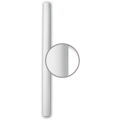 Vollsäulen Schaft PROFHOME 112061 Säule Zierelement Neo-Klassizismus-Stil weiß