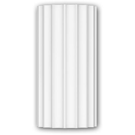 Vollsäulen Segment 412004 Fassadenstuck Säule Fassadenelement Ionischer Stil weiß