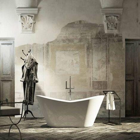 Volo vasca da bagno freestanding 160 x 71 x 64 Gelcoat-Lux® colore bianco lucido