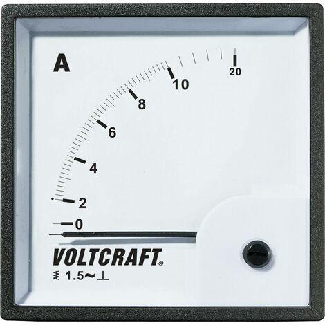 VOLTCRAFT AM-72X72/10A Appareil de mesure encastrable analogique AM-72X72/10A 10 A Ferromagnétique