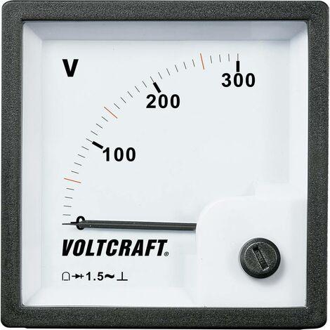 VOLTCRAFT AM-72x72/300V Appareil de mesure analogique encastrable AM-72x72/300V 300 V Bobine