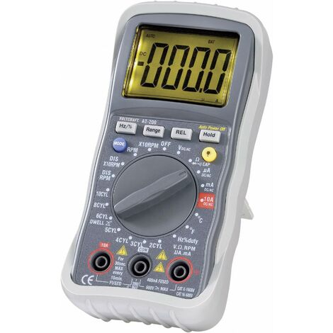 VOLTCRAFT AT-200 Hand-Multimeter digital KFZ-Messfunktion CAT III 600V Anzeige (Counts): 4000 Q59375