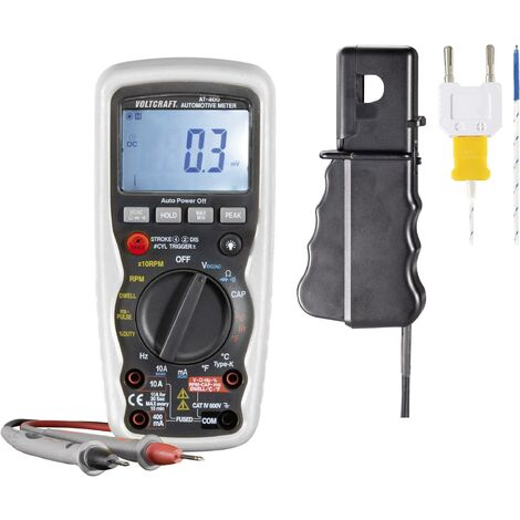 VOLTCRAFT AT-400 Hand-Multimeter digital KFZ-Messfunktion CAT IV 600V Anzeige (Counts): 4000 Q52517