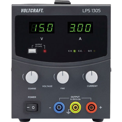 Voltcraft LPS1305 Bench PSU Single Output 0-30VDC 0-5A 150W