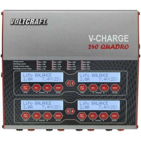 VOLTCRAFT V-Charge 240 Quadro Chargeur multifonction de modélisme 12 V, 230 V 12 A Li-polymère, LiFePO, Li-ion, LiHV, NiCd, NiMH, plomb W606001