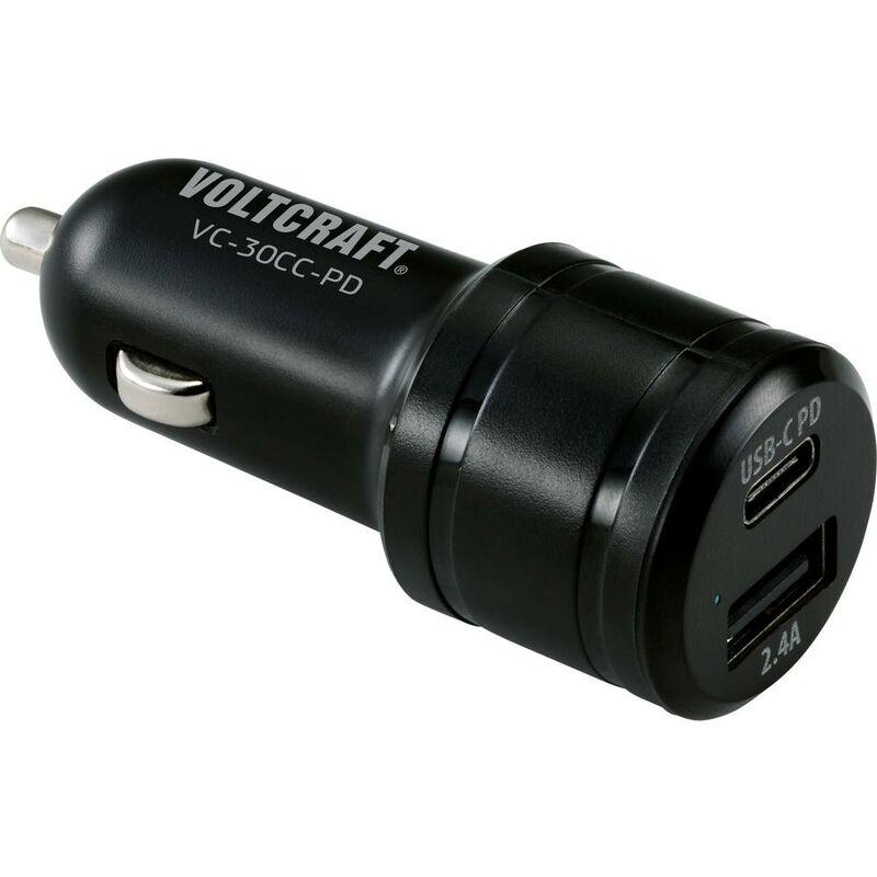 VOLTCRAFT VC-30CC-PD pour voiture Chargeur USB 2 x USB, USB-C™ femelle USB Power Delivery (USB-PD)