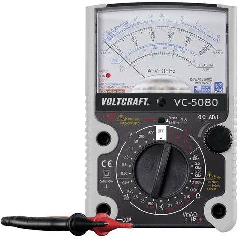 VOLTCRAFT VC-5080 Hand-Multimeter analog CAT III 500V A966301