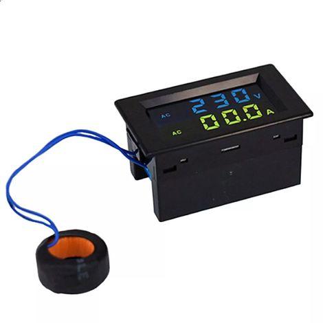 Voltimetro de pantalla digital doble Amperimetro, AC80-500V