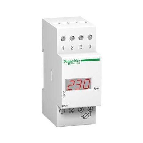 Voltímetro Schneider digital 600V 2 módulos 15201
