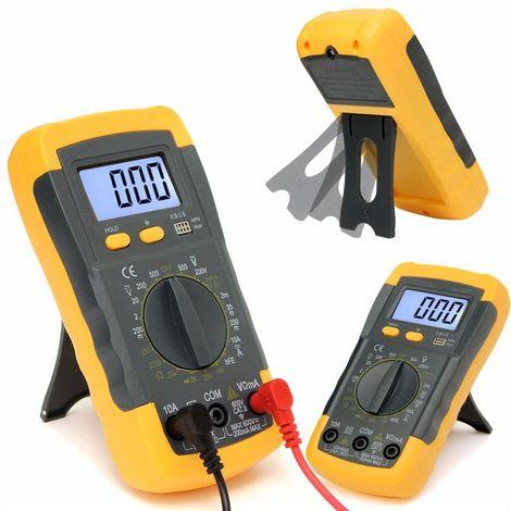 Voltmètre Numérique Ampèremètre Lcd Gamme Automatique Ohmmètre Multimètre Ac / Dc Volt Testeur Mètre Rhéoscope