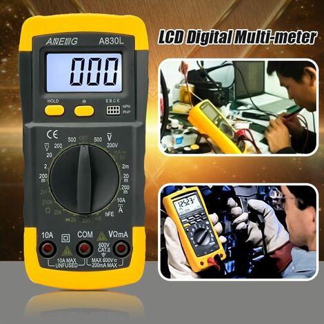 Voltmètre numérique Ampèremètre LCD Gamme automatique Ohmmètre Multimètre AC / DC Volt Testeur Mètre Rhéoscope Sasicare