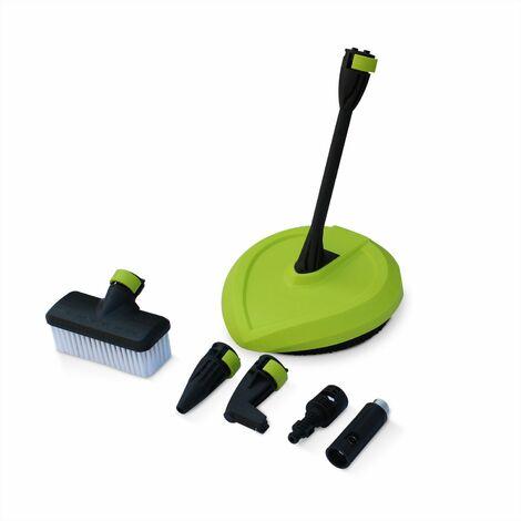 VOLTR - Hidrolimpiadora 135 bares 1700W - Conjunto de accesorios (boquilla detergente, rotabuse, variable), con empuñadura de rueda y parada automática