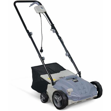 VOLTR - Scarificateur électrique gazon 1500W - Outil 2en1 aérateur et démousseur pelouse, 2 rouleaux : couteaux et griffe, collecteur 30L, entretien herbe