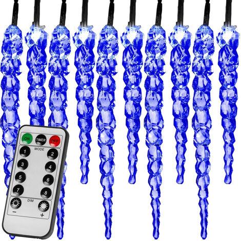 VOLTRONIC® 40 LED Lichterkette Eiszapfen blau FB
