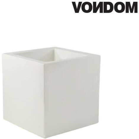 VONDOM Pot Model Cubo - Blanco mate - 30cm