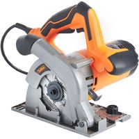 VonHaus 1050W Circular Saw 110mm 240V Multi-Purpose Plunge 28mm with Track Guides Jig Accessory Set - 12,000 RPM