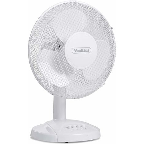 """12/"""" OSCILLATING DESK FAN COOLING AIR METAL CHROME 3 SPEED HOME OFFICE 30W NEW"""