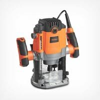 VonHaus 1600W Router - With 1/2'' and 1/4'' Collet - Woodworking Power Tool - Soft Start and Variable Speed Functions