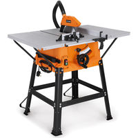 VonHaus 1800W 10'' (250mm) Table Saw With 5500rpm Underframe - Circular Mitre Function - High Spec with Attachable Table Sides - Make Longitudinal & Angle Cuts with Carbide-Tipped Saw Blade Fixable