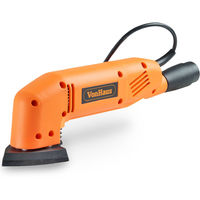 VonHaus 180W 90mm Triangle Detail Sander with 5 Sanding Sheets & Dust Extraction