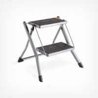 VonHaus 2-Step Stool ? Anti Slip Feet ? Easy To Store Foldable Design ? Ideal For Home/Kitchen/Garage