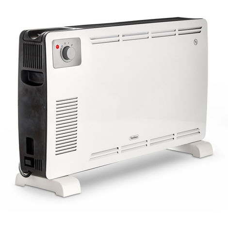 VonHaus 2000W Convector Heater With 3 Heat Settings, Manual Thermostat & Overheat Protection In Classic White