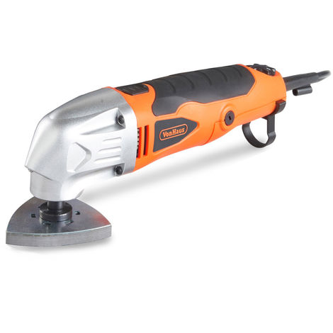 VonHaus 280W Oscillating Multitool / Detail Sander / Precision Cutter / Scraper / Grinder | 10,000-21,000 Variable Speed Control - 15pc Accessory Kit - Sanding Pads, Dust Extraction, Storage Case | 220-240V Corded Compact Design