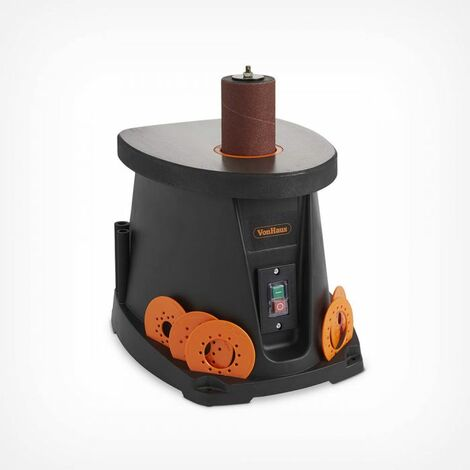 VonHaus 450W Oscillating Bobbin Spindle Sander – Woodwork/Carpentry/Sanding Machine with Cast Iron Table, Dust Extraction & Six Sanding Sleeves (13-76mm)
