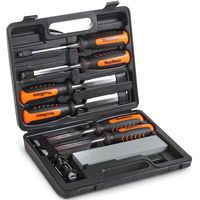 VonHaus 8 Piece Wood Carving Chisel Set with Honing Guide, Sharpening Stone & Storage Case