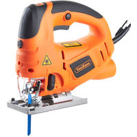 VonHaus 800W Electric Jigsaw with Laser Guide Pendulum | Variable Speeds, Splinter Guard, Dust Extraction Port & 3 Blades | Strong Cast Aluminium Base
