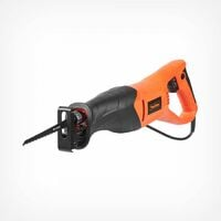 VonHaus 800W Reciprocating Saw Variable Speed With 105mm Max. Cutting Depth - Tool Free Blade Change - Includes 2 Blades - For Wood & Metal Cutting