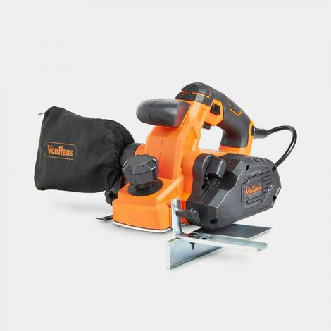 VonHaus 900W Electric Hand Planer with 82mm Planing Width. Maximum Planing Depth 3mm. 16000 RPM.