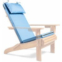 VonHaus Adirondack Chair Cushion ? Blue/Denim Drift ? Water Resistant ? Removable & Washable Cover ? Outdoor & Garden Use