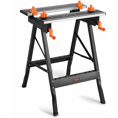 Pleasing Vonhaus Aluminium Top Workbench Adjustable Folding Frankydiablos Diy Chair Ideas Frankydiabloscom