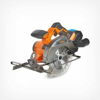 "VonHaus Cordless Circular Saw with 3.0Ah Li-ion 20V MAX Battery, Charger, 1 x 165mm / 6 ½"" TCT Tip Blade & Power Tool Bag - Includes Ergonomic Rubber Grip & Variable Cutting Angle / Depth"