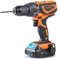 VonHaus Cordless Drill Driver with 2.0Ah Li-ion 20V MAX Battery, Charger, 13pc Bit Set & Power Tool Bag - Hammer Function, LED Work Light and Variable Speed Trigger (13mm Metal Alloy Chuck, 38Nm)