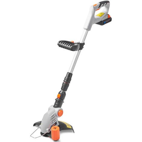Vonhaus Cordless Grass Trimmer Cutter With 20v Max Battery Charger 12 X Plastic Blades Includes 180 Adjustable Head 25cm Cutting Path Telescopic Handle 15 069