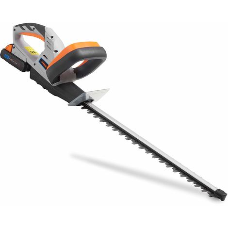 VonHaus Cordless Hedge Trimmer / Cutter with 20V MAX Battery, Charger & Blade Cover - Includes Dual Action Lazer Cut Blades, Soft Grip Handle & Anti Vibration System - Li-Ion G Range