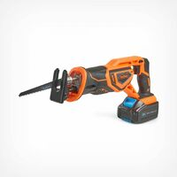 VonHaus Cordless Reciprocating Saw with 3.0Ah Li-ion 20V MAX Battery, Charger, 2 x Wood Blades & Power Tool Bag - Includes Tool-less Blade Change (22mm / 1'' Stroke Length)