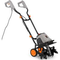 VonHaus Electric 1400W Tiller - Garden Soil Cultivator / Rotavator With 6 Blades - 40cm Cutting Width