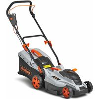 VonHaus Electric Rotary Lawnmower 1600W - 36cm Cutting Width & Adjustable Cutting Height ? 50L Grass Collection Box