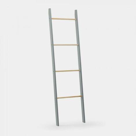 VonHaus Ladder Towel Rack with 4 Hanging Rails - Modern Grey Bedroom or Bathroom Furniture