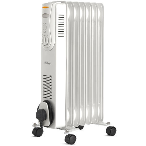 VonHaus Oil Filled Radiator 1500W 7 Fin - 3 Power Settings, Adjustable Thermostat & Safe Thermal Cut Off Feature