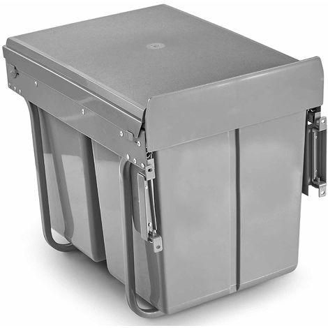 Vonhaus Pull Out Bin For Cupboard Under Sink 40l