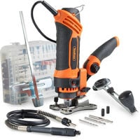 VonHaus Rotary Multi Tool 550W with 287-Piece Accessory Kit for DIY Jobs - DREMEL Compatible