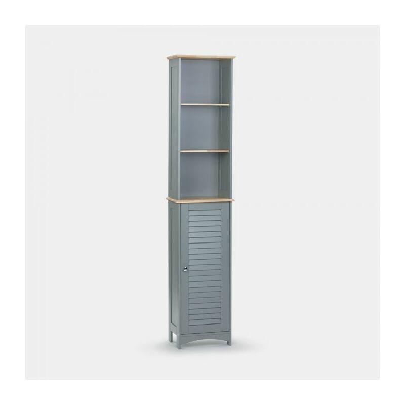 Vonhaus Tallboy Cabinet Solid Wood Top Shutter Style